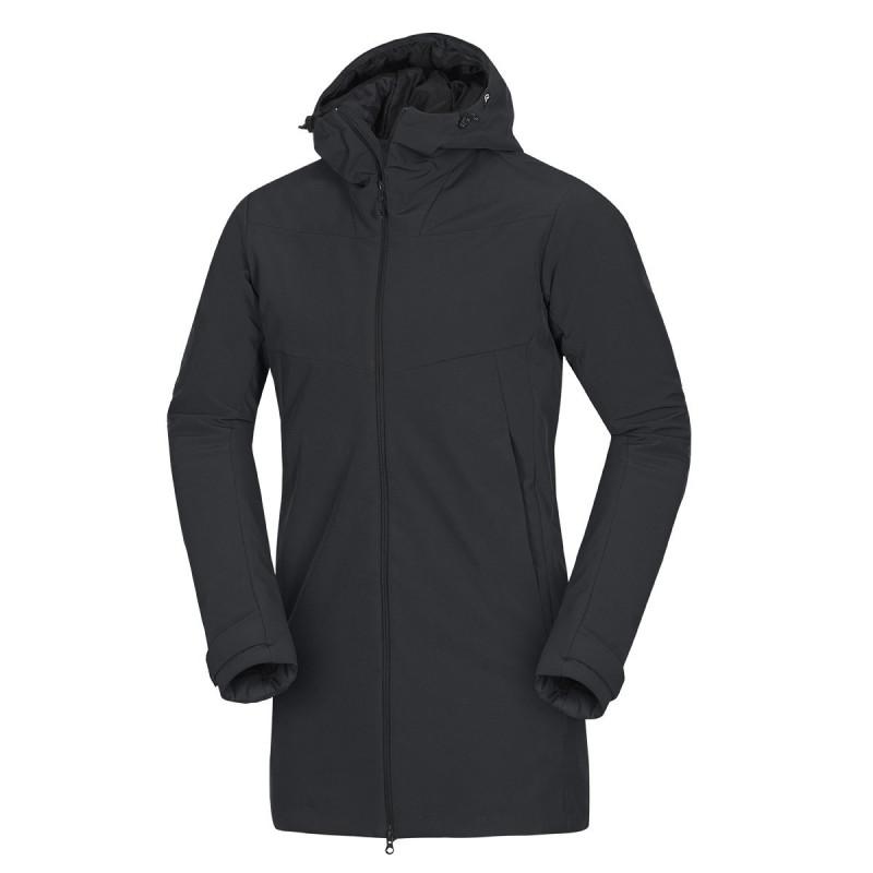 NORTHFINDER pánský kabát zimní softshellový ve stylu outdoor 3L ABOLYN - Stylový pánský softshellový outdoorový kabát značky NORTHFINDER vyniká vysokou větruvzdorností. Softshellová 3vrstvá membrána chrání ve vlhkém a větrném počasí. Střih a použité materiály umožňují dostatečný rozsah a volnost pohybu. NF® tenká výplň poskytuje skvělou ochranu před zimou a sněhovými přeháňkami. Je vhodný zejména na delší procházky v zimní krajině. S bundou ABOLYN vás nečekaný pocit zimy nemůže překvapit.