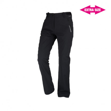 NORTHFINDER dámske nohavice pevný softshell outdoorový štýl 3L EXTRA SIZE GERONYA