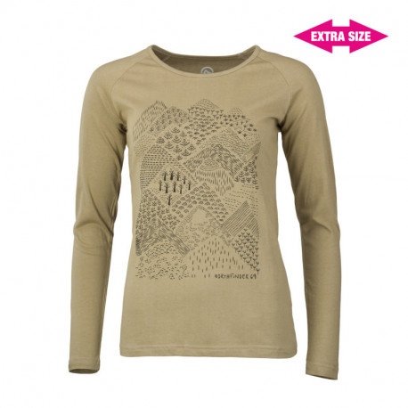 NORTHFINDER women's t-shirt organic cotton EXTRA SIZE VYOLA