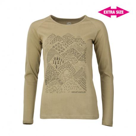 NORTHFINDER dámské triko organická bavlna extra size VYOLA