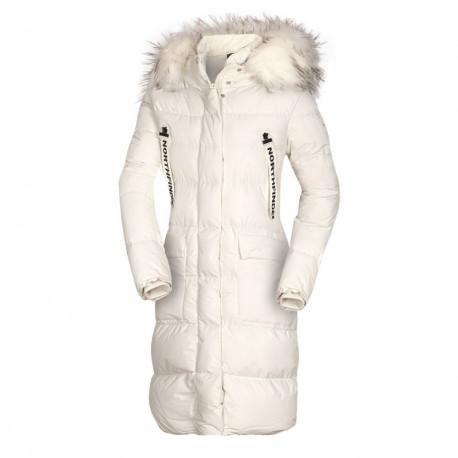 NORTHFINDER dámska bunda zateplená mestský predĺžený štýl SHITMA