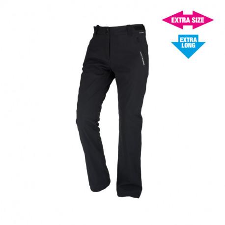 NORTHFINDER dámske nohavice pevný softshell outdoorový štýl EXTRA SIZE+LONG 3L GERONYA
