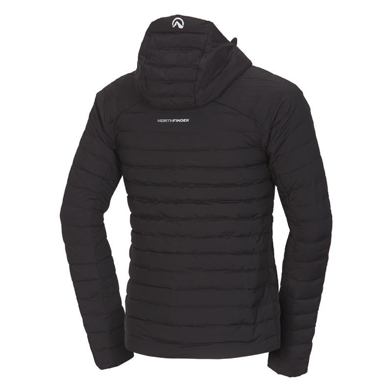 NORTHFINDER pánská bunda ultra-lehká Primaloft® izolace Eco Black BMELIN - Pánská ultralehká outdoorová bunda značky NORTHFINDER ušitá z vodoodpudivého materiálu poskytuje svému nositeli ochranu a maximální komfort i při náročných fyzických aktivitách. Použitý materiál Primaloft® je jeden z nejvýkonnějších tepelně izolačních materiálů na trhu. Svými vlastnostmi (tepelná izolace, lehkost, prodyšnost a nadýchanost) se přibližuje chmýří. Speciálně navržená polyesterová vlákna nepohlcují vlhkost. Uživatel zůstává v suchu a teple i v extrémních podmínkách. Vynikající izolační bunda je vhodná na všechny outdoorové aktivity, spolehlivě vás zahřeje a zároveň vás neprofoukne. S bundou BMELIN vás nečekaný pocit zimy nemůže překvapit.