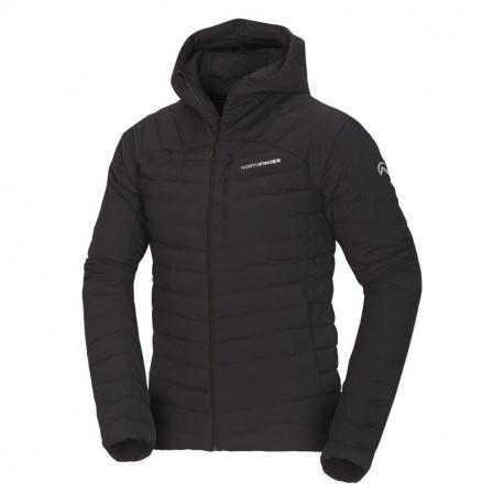 NORTHFINDER pánská bunda ultra-lehká Primaloft® izolace Eco Black BMELIN