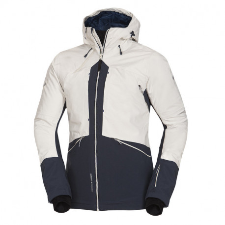 NORTHFINDER men's freestyle jacket insulated Primaloft® ThermoPlume® Insulation Eco Blacksnow series 3-layerALDENY