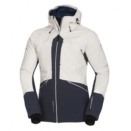 NORTHFINDER pánská zateplená bunda PrimaLoft® izolace Eco Black na zimní aktivity 3L ALDENY