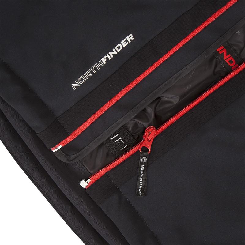NORTHFINDER pánská bunda lyžařská trendová softshellová 3L zateplená plná výbava DASHIELL - NORTHFINDER pánská bunda lyžařská trendová softshellová 3L zateplená plná výbava DASHIELL