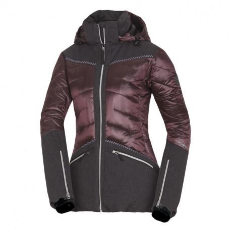 NORTHFINDER dámská bunda kombinovaná do chladného a mokrého počasí VYOLETAIA