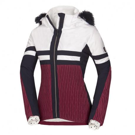 NORTHFINDER dámská bunda lyžařská zateplená plná výbava a kožešinou 2L AMITY