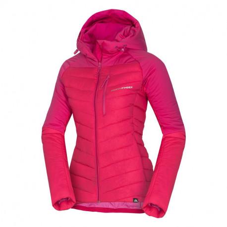 NORTHFINDER dámska bunda ultra-ľahká zateplená v štýle outdoor 2,5L BRITHYDA