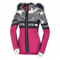 NORTHFINDER dámska bunda lyžiarska zateplená s potlačou a kožušina 2,5L BEA