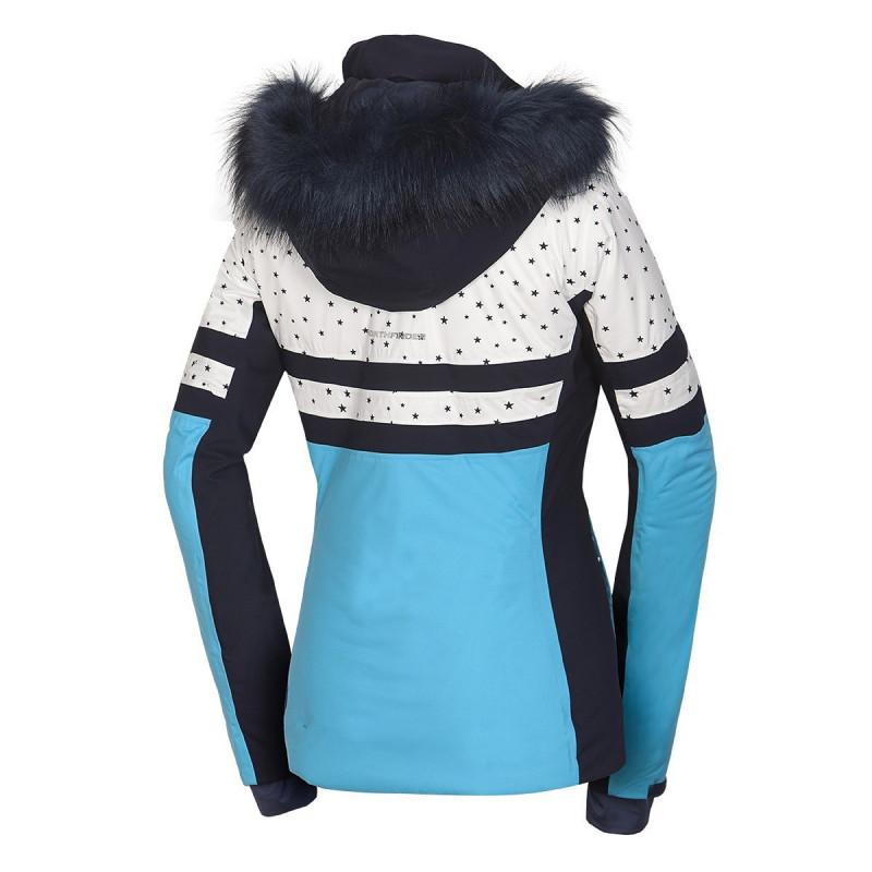 NORTHFINDER dámska bunda lyžiarska zateplená s potlačou a kožušina 2,5L BEA - NORTHFINDER dámska bunda lyžiarska zateplená s potlačou a kožušina 2,5L BEA