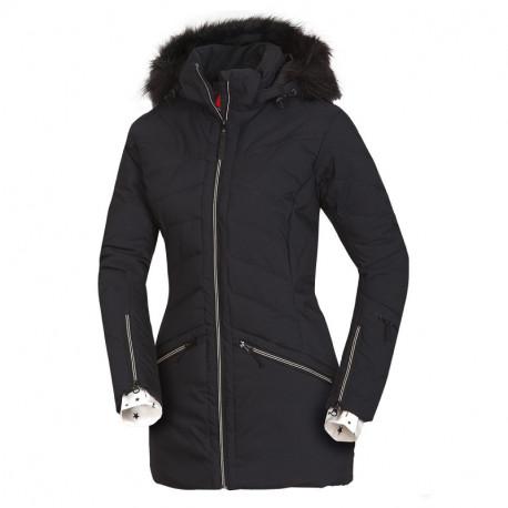 NORTHFINDER dámská bunda alpin zateplená série dlouhý styl a kožešinou 2L IRNES