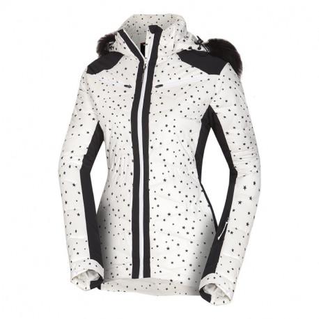 NORTHFINDER dámská bunda alpin zateplená série krátký styl a kožešinou 2,5L LUISE