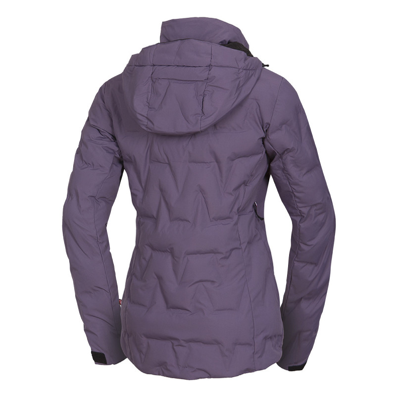 NORTHFINDER women's ski bonded jacket insulated Primaloft® ThermoPlume 2-layer ZIGA - The top technical 2-layer women's NORTHFINDER ski jacket with PrimaLoft® ThermoPlume provides great protection from winter and snow. Currently the most progressive synthetic insulating material on the market from PrimaLoft®. The material reminds of the down, not only for the look but also for the touch. Free fibers are attributed to comparable insulating performance, structure, compression, and loft volume, such as a down. However, non-absorbing loose fibers offer thermal insulation performance even in damp environments. This is a breakthrough feature from the user´s perspective. The jacket is primarily for skiing, but it can also be used for walking through the winter landscape. Combinable with LOXLEYNA pants (NO-4572SNW). With ZIGA jacket the feeling of cold cannot surprise you.