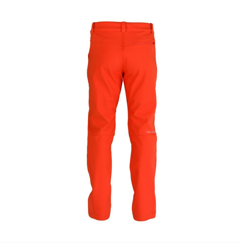 NORTHFINDER men´s comfort-softshell 3-layer trousers outdoor style GORAN - The technical men's outdoor trousers by NORTHFINDER offer 3-layer softshell material with a Ripstop structure. The material with this identification belongs to a group of softshell fabrics, which consist of three layer. The outside is made of woven nylon or polyester with waterproof design. Below it is a lamination or drainage that takes care of transporting water vapor to the surface and prevents water from entering the into the inside. The last layer consists of a soft inner layer. The combination of used materials ensures waterproofness, breathability, wind resistance and elasticity with excellent mechanical resistance. It is lightweight, comfortable to touch and provides adequate thermal insulation. The trousers are suitable for outdoor activities, alpine hiking or walking through nature. The GORAN trousers will definitely not disappoint you.