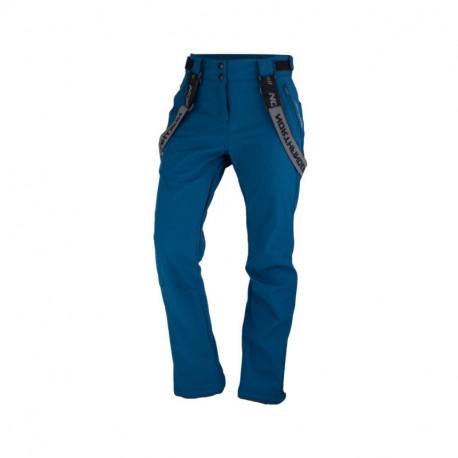 NORTHFINDER dámske nohavice softshellové na lyžovanie s trakmi 3L MAJYOLIKA