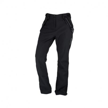 NORTHFINDER dámske nohavice softshellové na lyžovanie s trakmi MAJYOLIKA