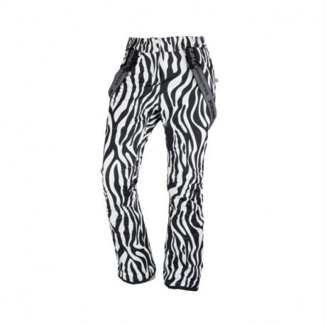 NORTHFINDER dámské kalhoty lyžařské celopotištěné komfortní s šlemi 2,5L OSIRIS