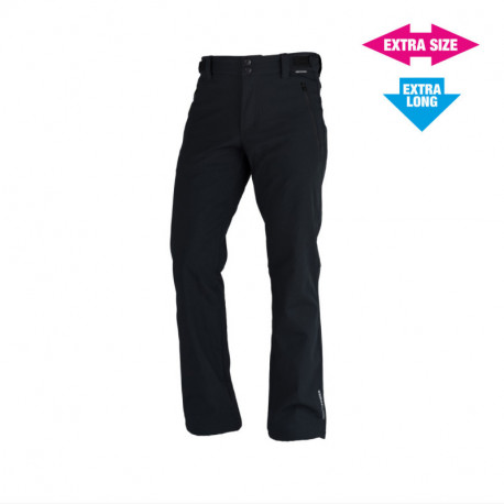 NORTHFINDER men´s strong-softshell trousers outdoor style 3-layer EXTRA LONG+SIZE GERON