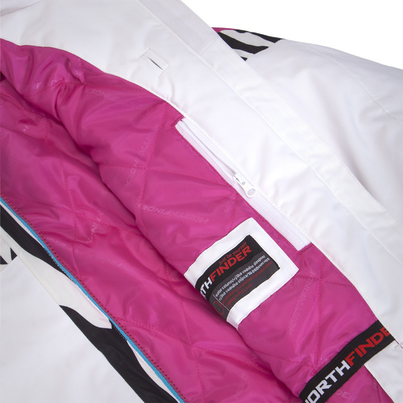 NORTHFINDER dámská bunda lyžařská pre zimní športy plná výbava 2L LULA - Technická 2vrstvá dámská lyžařská bunda značky NORTHFINDER se SEAL výplní poskytne skvělou ochranu před zimou a sněhovými přeháňkami. Bunda je vybavena množstvím praktických kapes, do kterých si můžete uschovat své cennosti, brýle, skipass apod. Nechybí ani větrací otvory, lepené prvky či sněžný pás. Bunda je kombinací extravagance a ženskosti. Bunda je prioritně určena na lyžování, ale dá se využít i na procházky zimní krajinou. Probuďte v sobě šelmu a staňte se královnou svahu s bundou LULA.