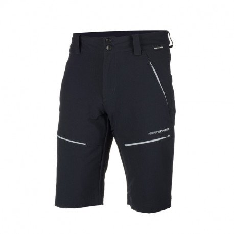 NORTHFINDER men's technical shorts woven-ripstop outdoor activities 1-layer RAKLON