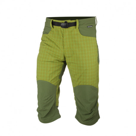 NORTHFINDER pánské šortky 3/4 tkané-káro pro outdoorové aktivity 1L RUDHJI