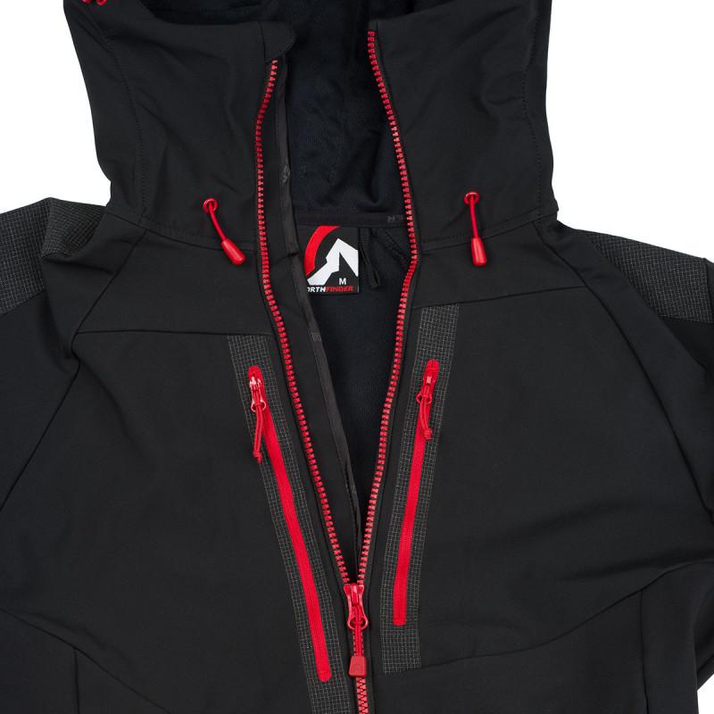NORTHFINDER pánská bunda strečový-softshell odolný 3L YXONT - Univerzální bunda z kolekce outdoor. Softshellová 3vrstvá membrána chrání ve vlhkém a větrném počasí. Střih a použité materiály umožňují dostatečný rozsah a volnost pohybu. Nastavitelné prvky poskytují dokonalý pocit komfortu. Dobře polohované a dostupné kapsy oceníte v různých situacích.