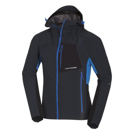 NORTHFINDER pánska bunda hybrid-softshellová pre rôzne klimatické podmienky 3L RONDY