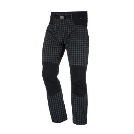 NORTHFINDER men's woven-check trousers outdoor activities 1-layer GREJOL