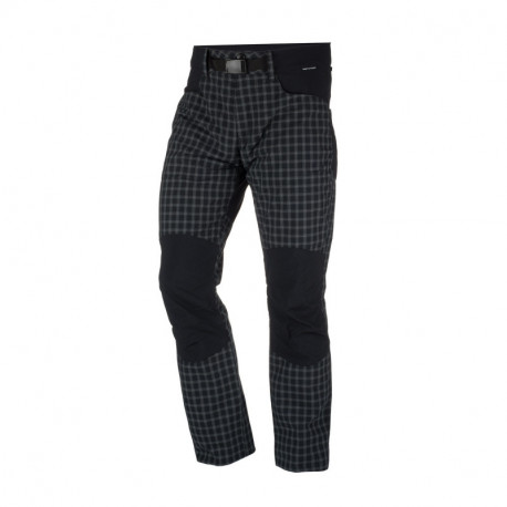 NORTHFINDER pánské kalhoty tkané-káro pro outdoorové aktivity 1L GREJOL
