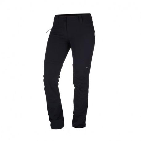 NORTHFINDER dámské kalhoty 2v1 tkané-strečové pro outdoorové aktivity 1L DRALA