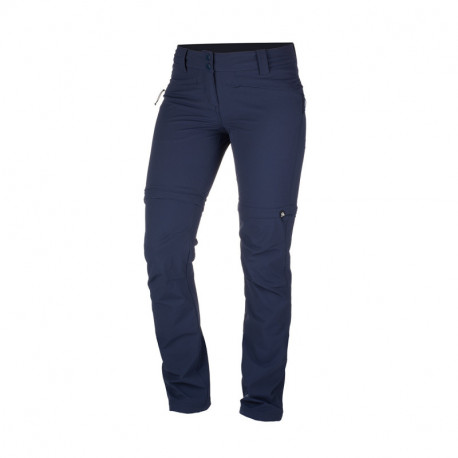 NORTHFINDER dámske nohavice 2v1 tkané-strečové pre outdoorové aktivity 1L DRALA