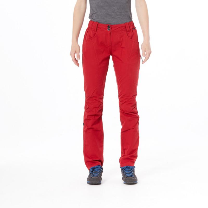 NORTHFINDER dámské kalhoty bavlnený vzhled pro outdoorové aktivity 1L ENGRITA - Bavlněné kalhoty v praktickém provedení zajišťují dostatečný komfort při pohybu. Když Vám bude teplo, jednoduše z nich uděláte 3/4 kalhoty zajištěním na knoflík. Vhodné pro různé aktivity do přírody nebo i volnočasové nošení do města.