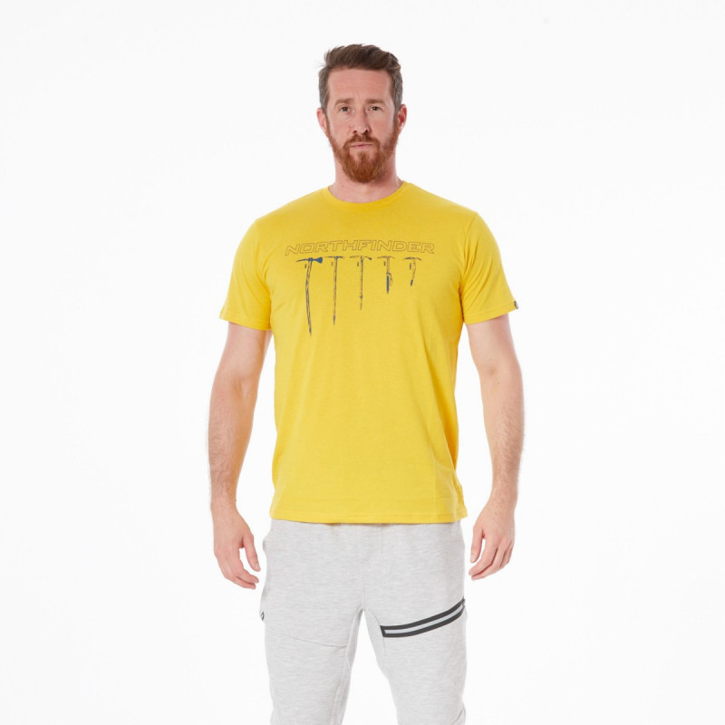 NORTHFINDER men's cotton t-shirt BENJIL - Cotton T-shirt with highly breathable material and original design. T-shirt is pleasant to touch, flexible, light, comfortable, and suitable for casual wear and outdoor activities.