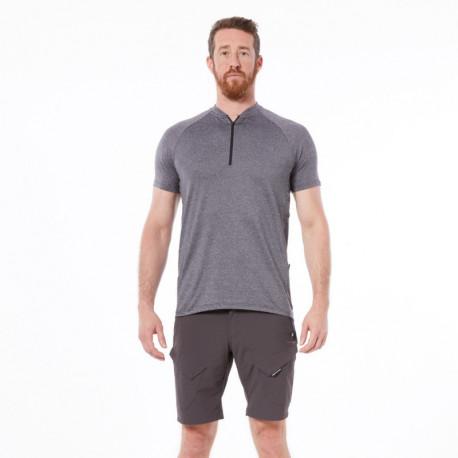 NORTHFINDER pánske cyklistické tričko s polovičným zipsom MASDY
