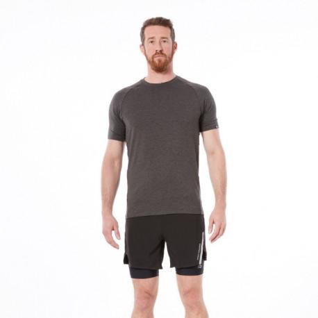 NORTHFINDER pánske tričko bežecké melanžový vzhľad BOLTIN