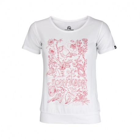 NORTHFINDER dámské triko bavlněné floral ANTINGONA