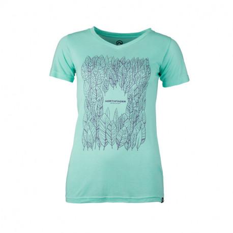 NORTHFINDER dámské triko bavlněné jednoduché SMIPLIA