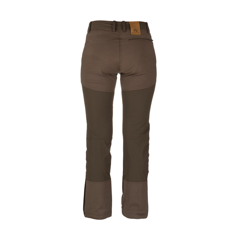 NORTHFINDER women's north trousers combination style GAFTA - Lightweight technical material ensures high-quality protection, durability and optimum body temperature during outdoor activities. Freedom of movement is ensured by comfortable cut of trousers, such as slim fit and zip extension of legs at the bottom. Trousers are suitable for hiking, outdoor activities, leisure time, and casual wear.