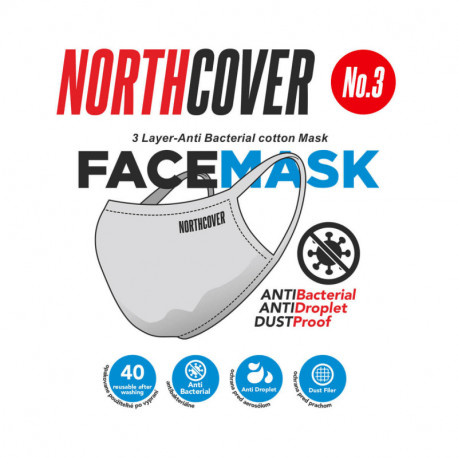 NORTHFINDER Ochranné rúška antibaktérialne No.03 (cena za 1 balenie 5 ks)