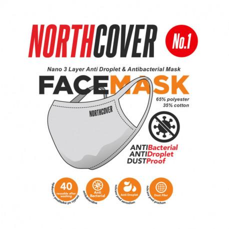 NORTHFINDER Nano 3 layer anti-droplet and antibacterial mask No.01 reusable ( pack 5 pcs )