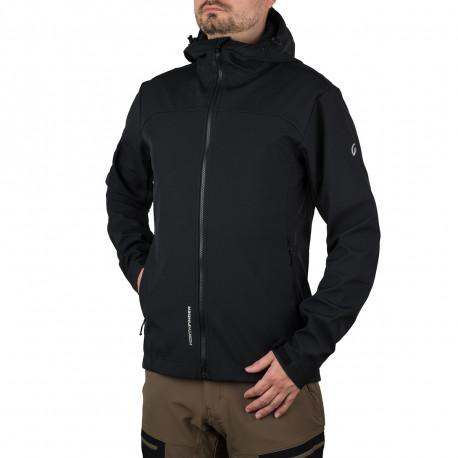 pánska bunda softšilová outdoorový štýl