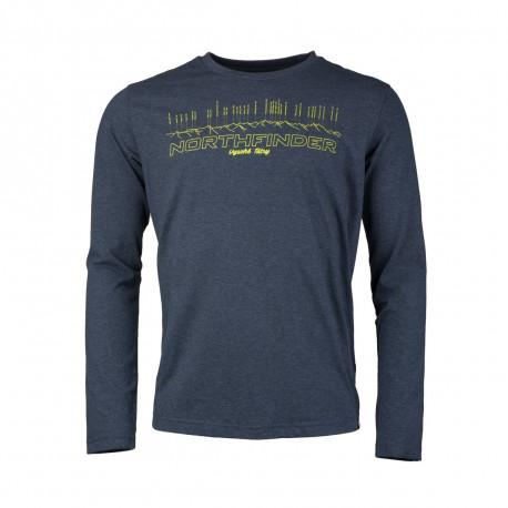 NORTHFINDER pánske tričko melanžové bavlnený štýl TATRA