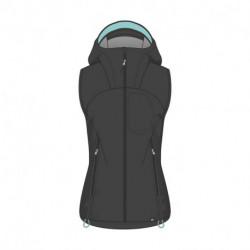VE-4390OR Dámska outdoorová vesta softshellová RIGTA