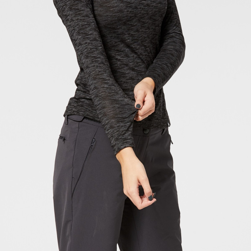 NORTHFINDER women's stretch t-shirt melange half-zip LOLIA - Women's functional NORTHFINDER T-shirt with half zipper in a modern look with high breathability. The T-shirt is pleasant to touch, elastic, lightweight, comfortable and is suitable for sports activities as well as casual wear. Do not hesitate to try LOLIA T-shirt.