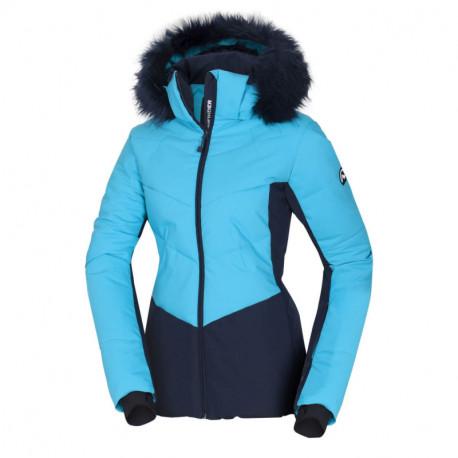 NORTHFINDER dámska bunda lyžiarska zateplená prešívaná s kožušinou NORTHENAS