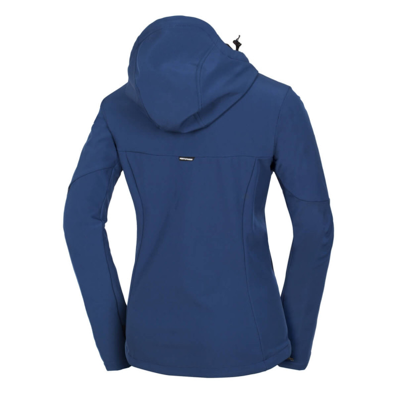 NORTHFINDER women's jacket softshell urban style 3L RIWERISA - Three-layer stretch softshell jacket with 5,000 mm H2O membrane, 5000 g / m2 / 24h.