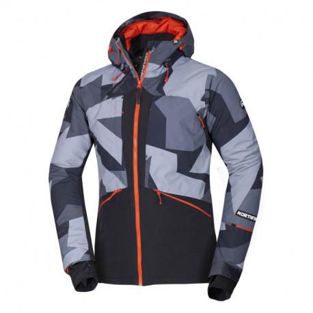 NORTHFINDER pánská lyžařská bunda styl freeride celopotištěná