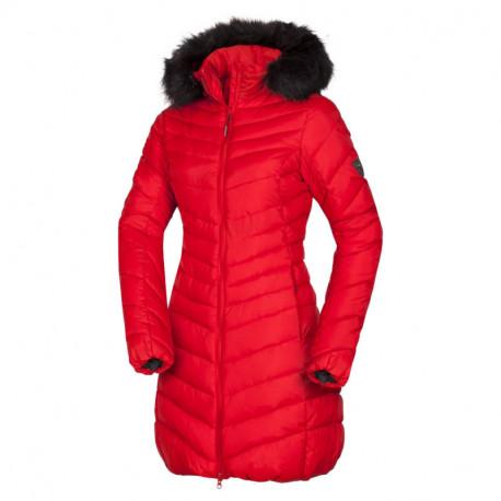 NORTHFINDER dámska bunda dlhá zateplená s kožušinou VONILA
